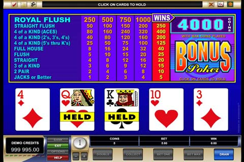 free online video poker trainer