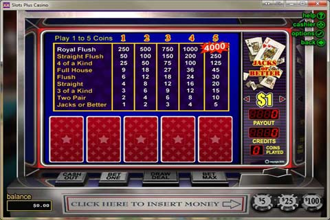 free video poker slot play