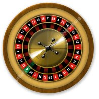 A roulette wheel has 38 slots numbered 0 00 and 1 to 36