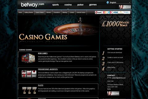 betway casino contact