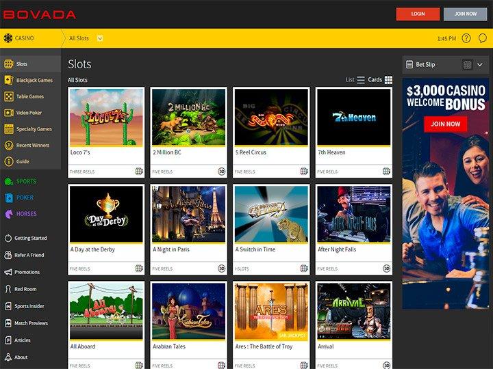 bovada mobile casino review