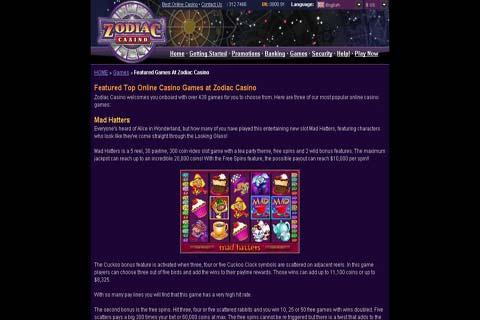 zodiac casino serios