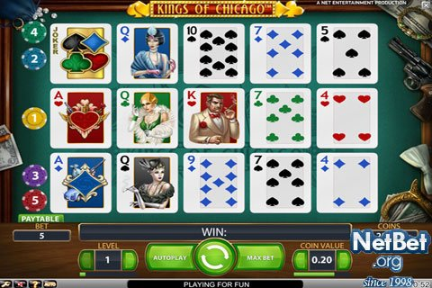 Kings of Chicago - Free Online Poker Slot