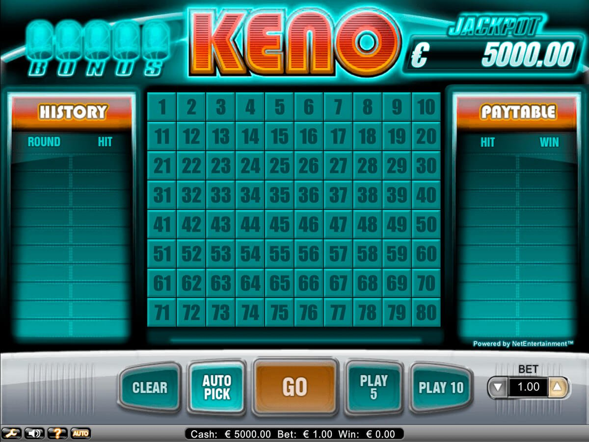 Best 5 Keno Numbers To Play