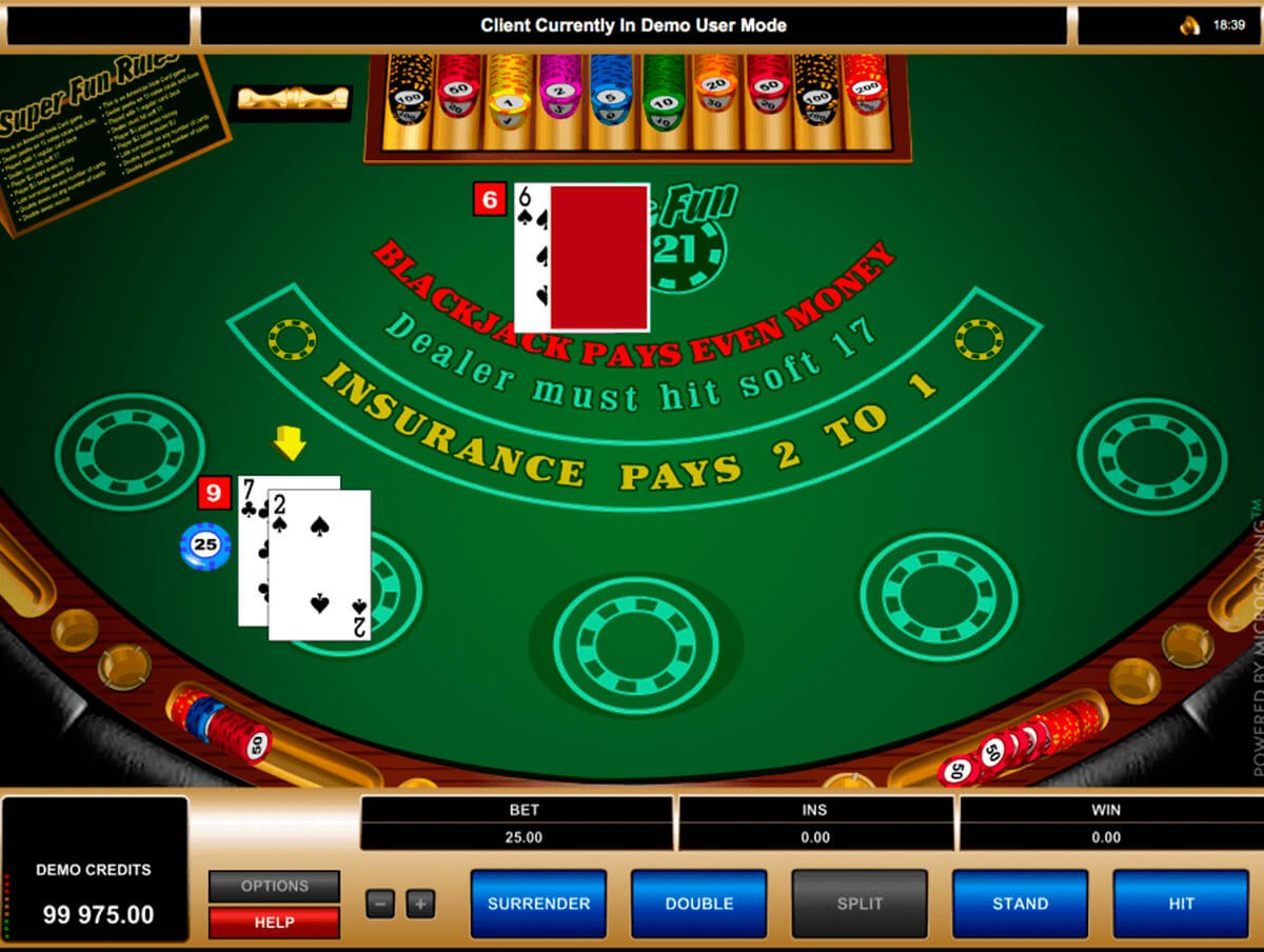 Play Blackjack Super 21 at Casino.com South Africa