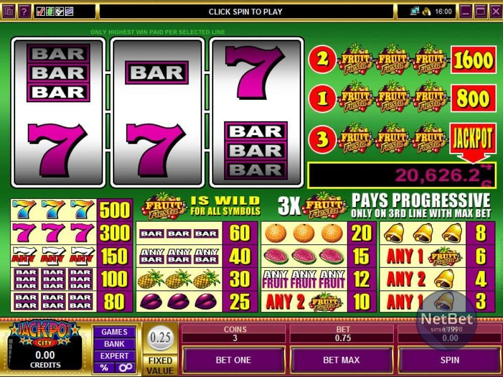 Fruit Fiesta 3-reel Slot
