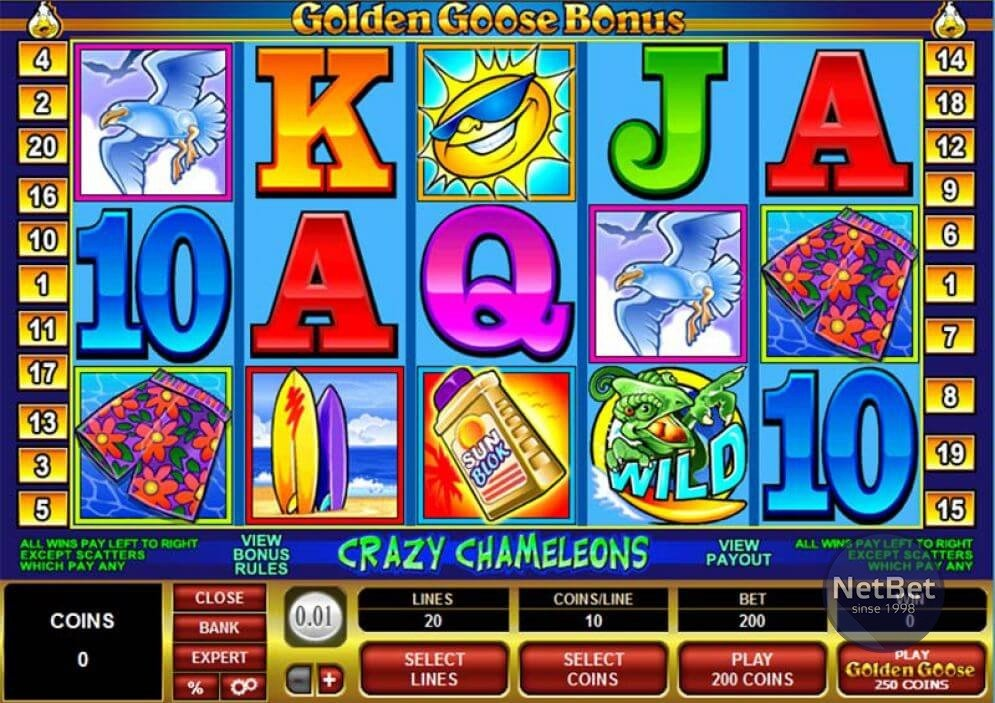 Golden Goose Crazy Chameleons Slot
