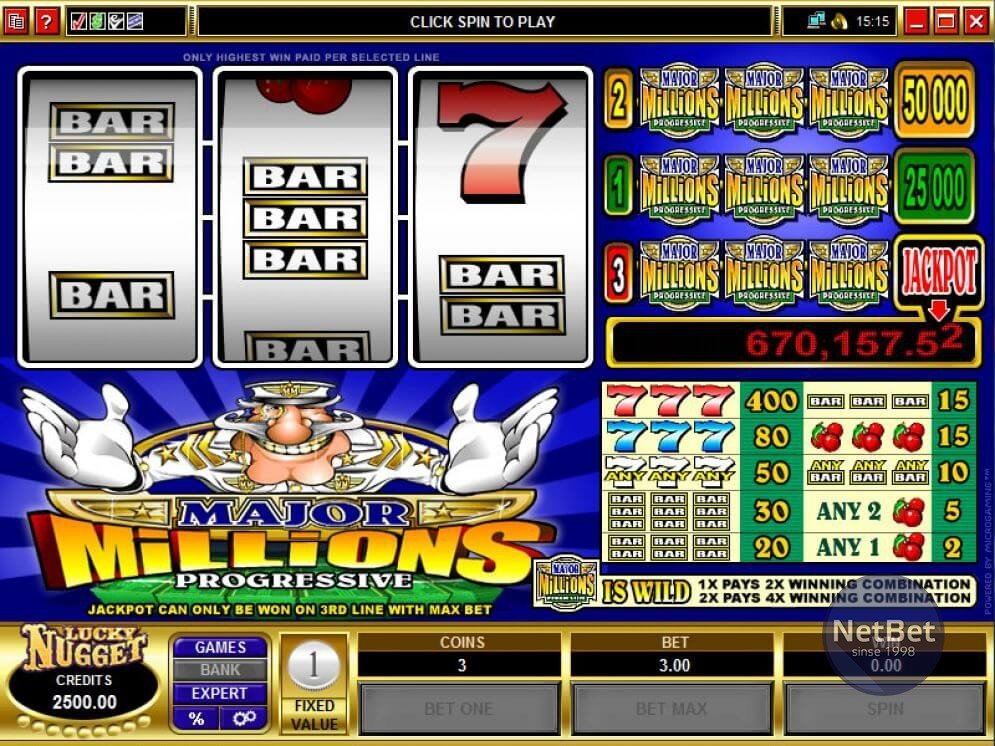 Major Millions 3-reel Slot