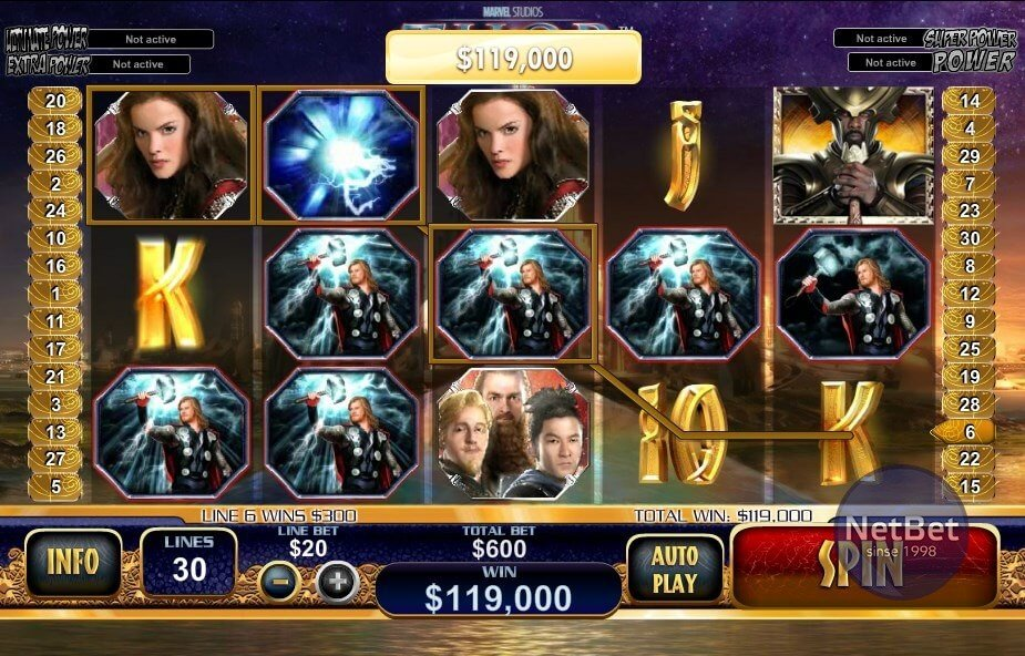 Thor The Mighty Avenger™ Slot Machine Game to Play Free in Playtechs Online Casinos