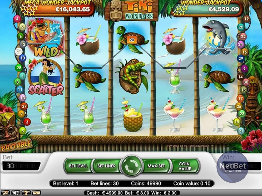 Tiki Wonders - Progressive Online Video Slot